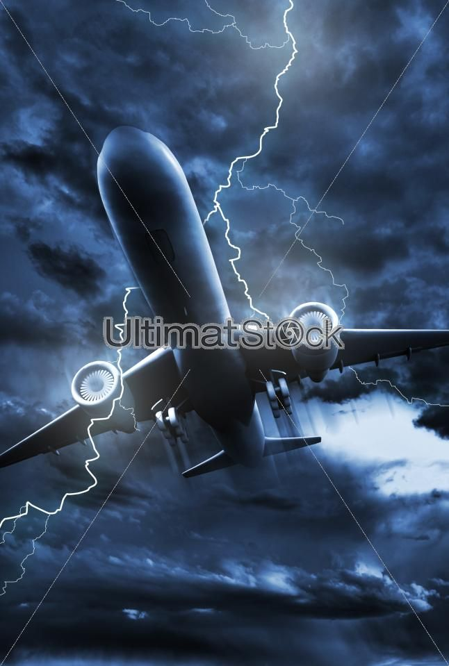 Airplane Lightning Strike #ultimatstock #stockphotos  #graphicdesign #photoblog