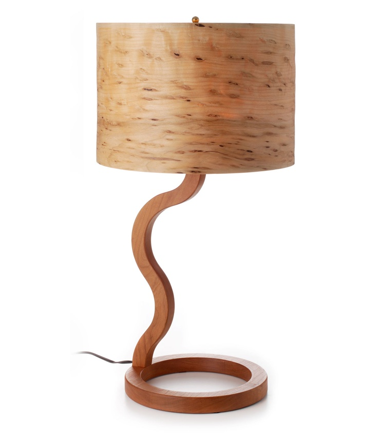 Cherry And Raisin Maple Wooden Lamp Gallery