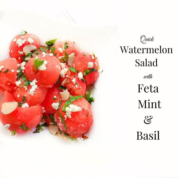 watermelon mint and basil salad recipes dishmaps make this melon salad ...