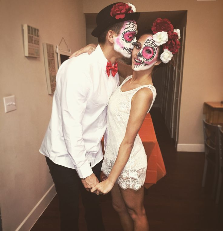Day of the dead sugar skull couples costume                                                                                                                                                                                 More