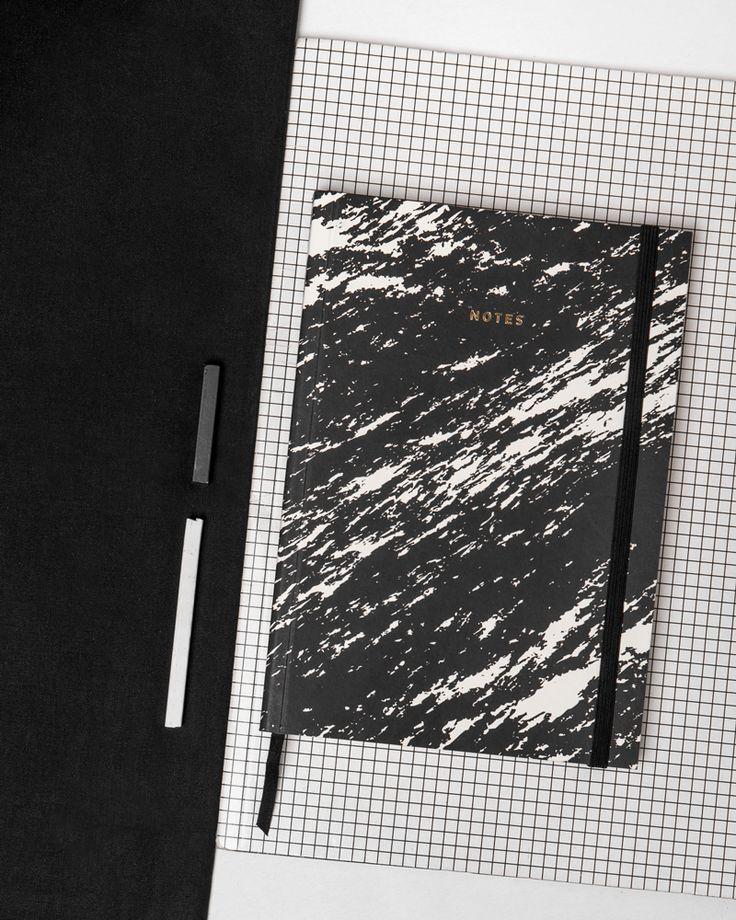 Notes Paper Love Marble czarny, Tekieli