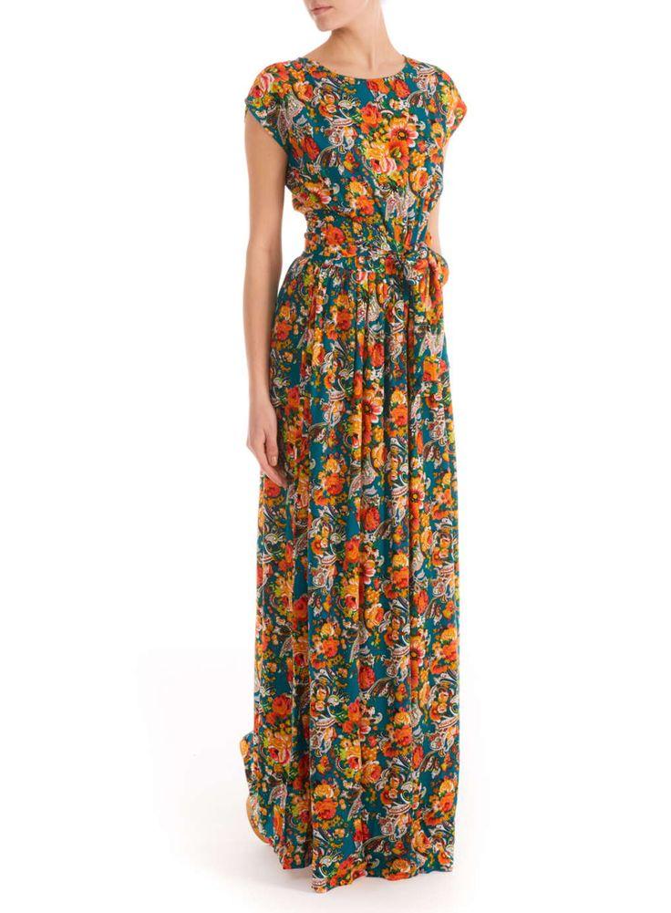 **Ruby Rocks Jade Floral Maxi Dress