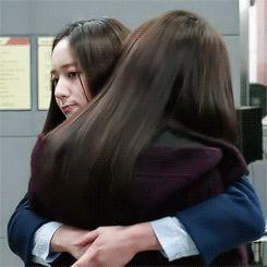 Park Shin Hye Cha Eun Sung Krystal Jung Lee Bo Na The Heirs Cute Hug GIF