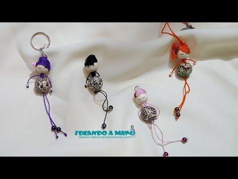 c60ec237fb46 Como hacer muñecas para broches y llaveros | macrame | Hacer muñecas ...