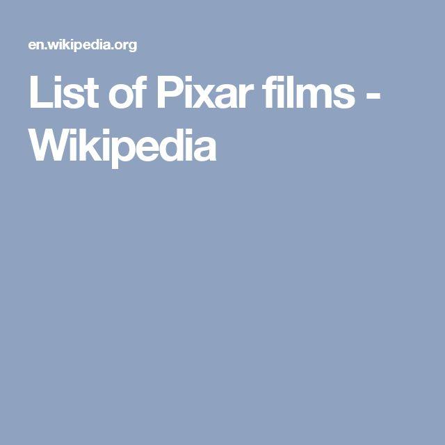 List of Pixar films - Wikipedia