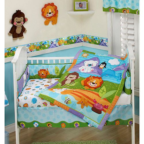 Baby Crib Bedding Set 3pc Comforter Sheet Dust Ruffle Nursery Bedroom Kid Decor  | eBay