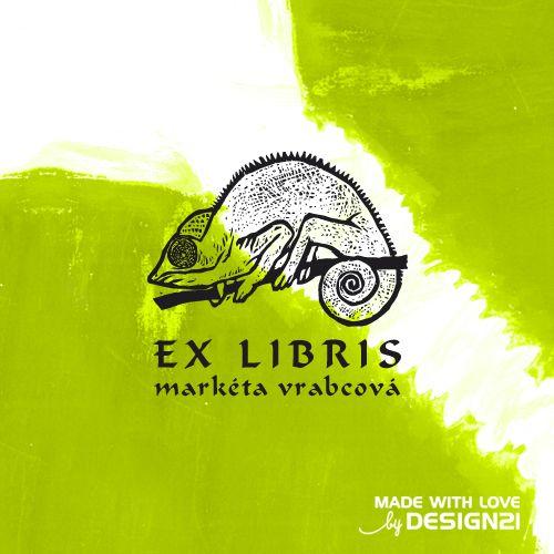 """Chameleon: razítko 3x3 cm """"EX LIBRIS"""" v latině znamená """"Z KNIH"""", ve smyslu """"Tato kniha je z knihovny pana / paní XY."""" Toto značení knih má dlouhou historickou tradici může to být třeba štítek se jménem, vlepený na předsádce knihy, nálepka nebo je v podobě razítka. Razítko EX LIBRIS s motivem chameleona (tisknoucí plocha 3x3 cm) je vyrobené laserovou technologií podle ..."""