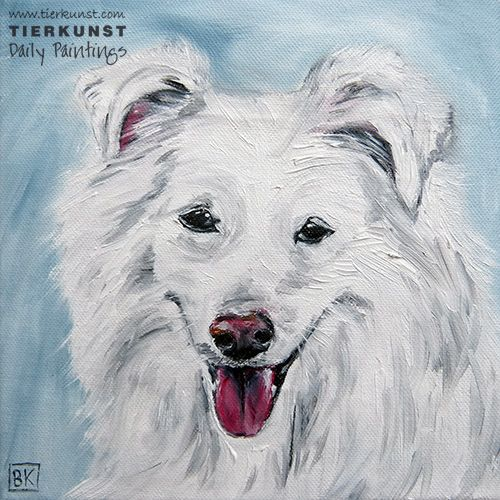 Ölportrait, Hundeportrait, Dogpainting in Oil on canvas