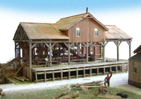 ho scale sawmill | It is entirely built from scratch, stripwood, paper, plastics, and ...