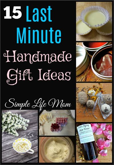 A wonderful list of last minute handmade gift ideas like lotion and lip balm, home and health ideas like teas, herbal gifts, even great gifts from kids.Easy