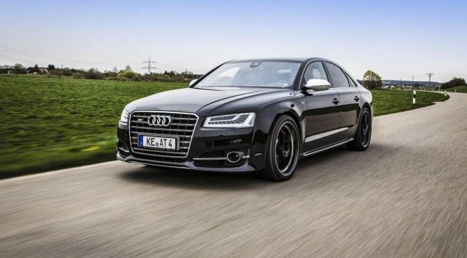 The German tuner ABT offers an update of its preparation based on Audi S8. The sport limousine Rings can now boast of developing 675 horsepower!  readmore: http://www.autocarpost.com/2014/10/18/audi-s8-facelift-upgraded-to-675-hp-by-abt-sportsline/