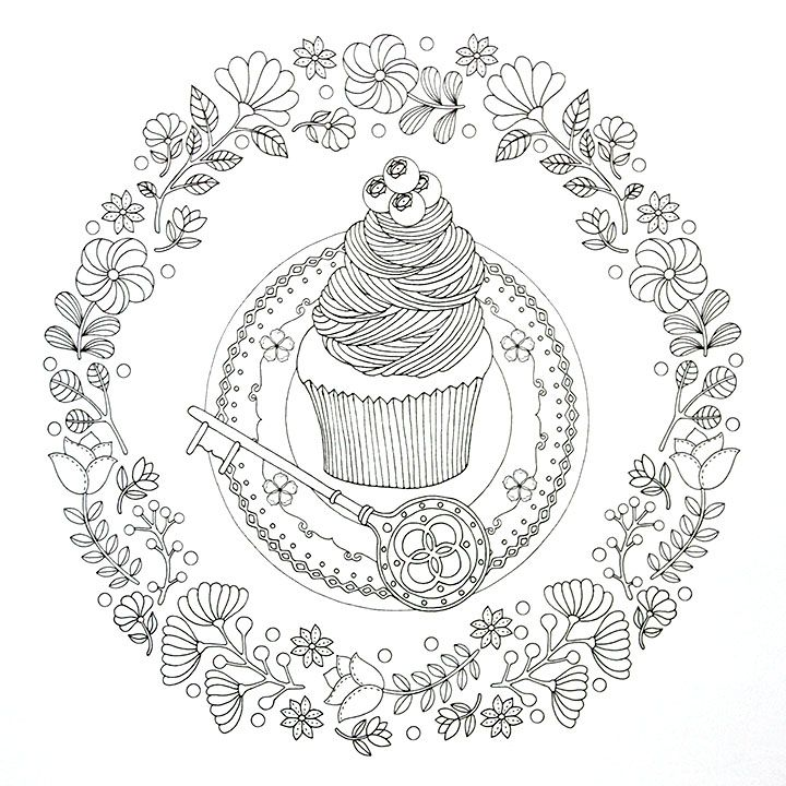 68 Best Images About Cupcakes Cakes Coloring Pages For