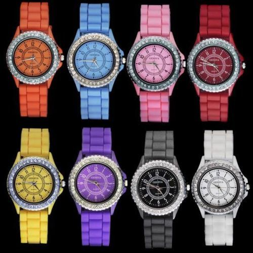 Fashion Jelly Quartz Unisex Silicone Wrist Watch