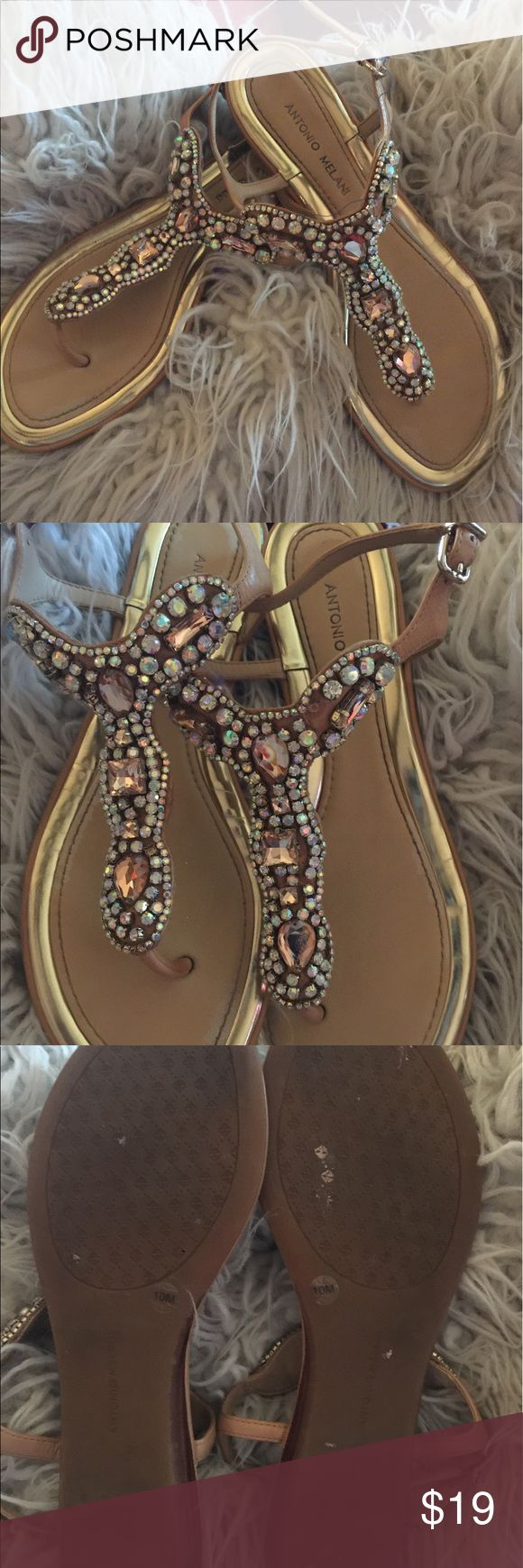 ANTONIO MELANI!! ANTONIO MELANI flats. Worn twice to prom. One stone missing but not noticeable. Gorgeous flats! Excellent condition! ANTONIO MELANI Shoes Sandals