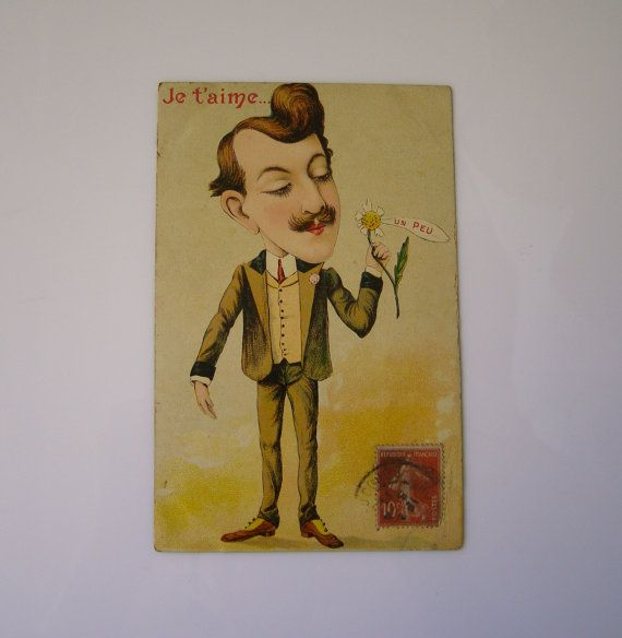 Ancienne carte postale humoristique - former humorous postcard - lovers