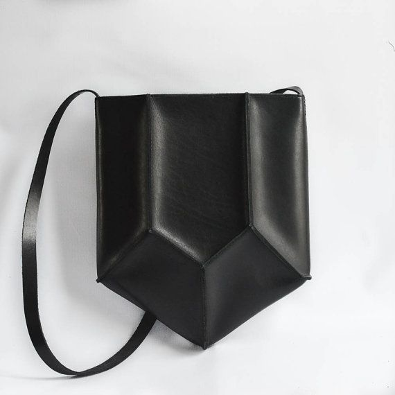 Geometric+Pentagon+Leather+Bag+Crossbody+Purse+by+CrowSLC+on+Etsy,+$300.00