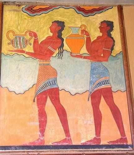 A fresco from the famous Minoan palace of Knossos - Crete Island