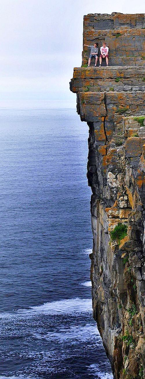 Daredevil Cliffs, Inishmore coastline, Aran Islands, Ireland... #WOW you couldn't drag me up there, although I would lOVE to see from a very safe distance ;-)