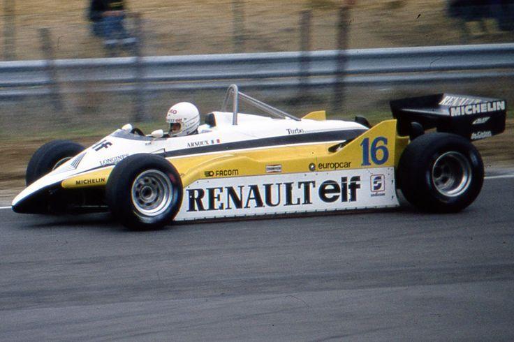 René Alexandre Arnoux (FRA) (Equipe Renault Elf), Renault RE30B - Renault-Gordini EF1 1.5 V6   1982 Belgian Grand Prix, Circuit Zolder  © Daniel Migeon