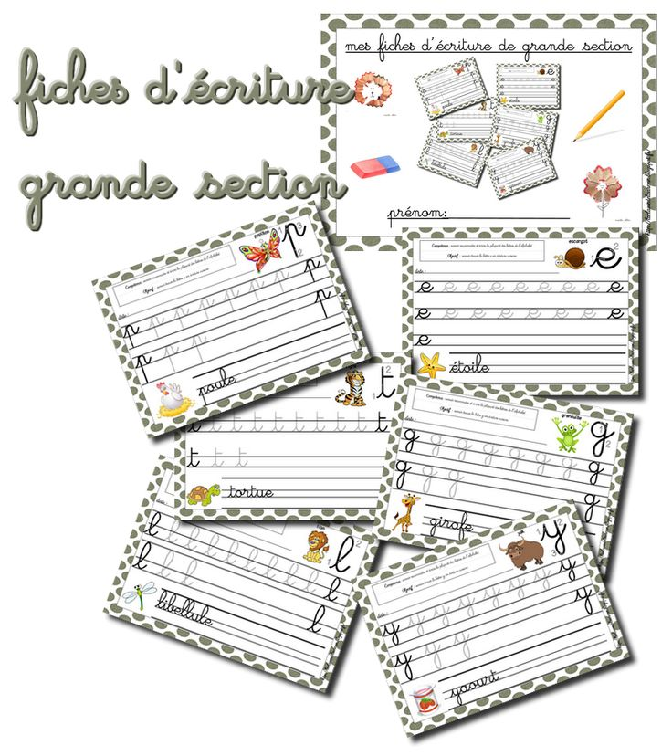 Fiches d'�criture grande section Fiches d'�criture grande section