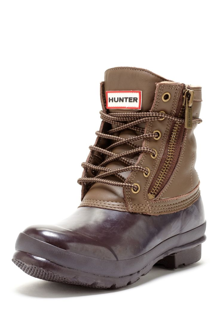 Lumber jack style. I love the look of these with thick wool socks peeking out the top, skinny jeans, and a warm parka. LL Bean duck boots would be cute too...