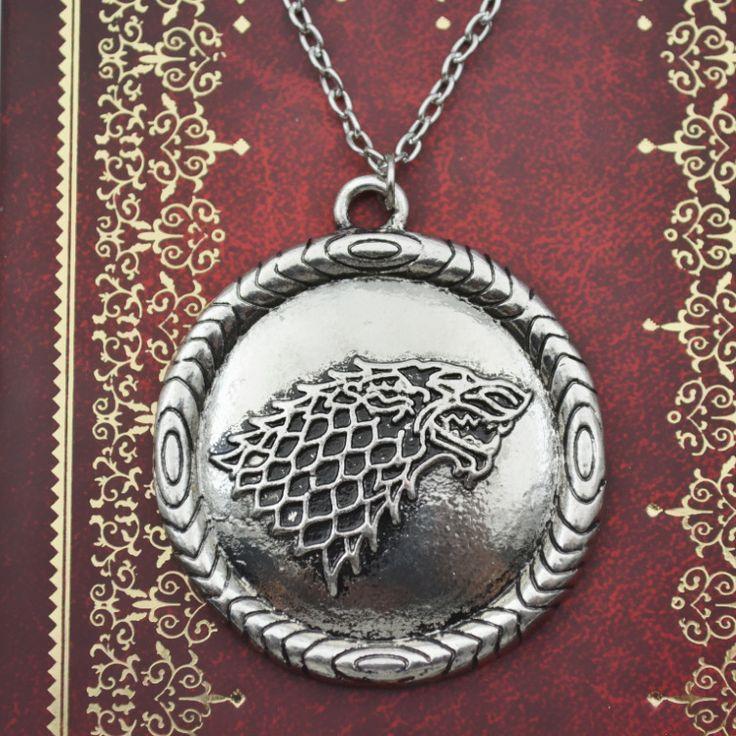 Игра престолов, клан Старк медальон волк на цепочке