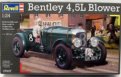 Bentley 4.5L Blower LeMans 1928 Race Car Revell  07007 1/24 New Model Kit - Shore Line Hobby