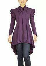 Purple Victorian Romance Top - Plus Size - Curvy Fashion - Bold - Unique - Renegade