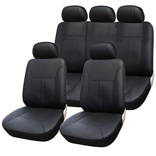WOLTU AS7290 Couverture de siège de voiture,housses de siège universelle en cuir,Noir: WOLTU Ensemble de Housses de protection pour siège…
