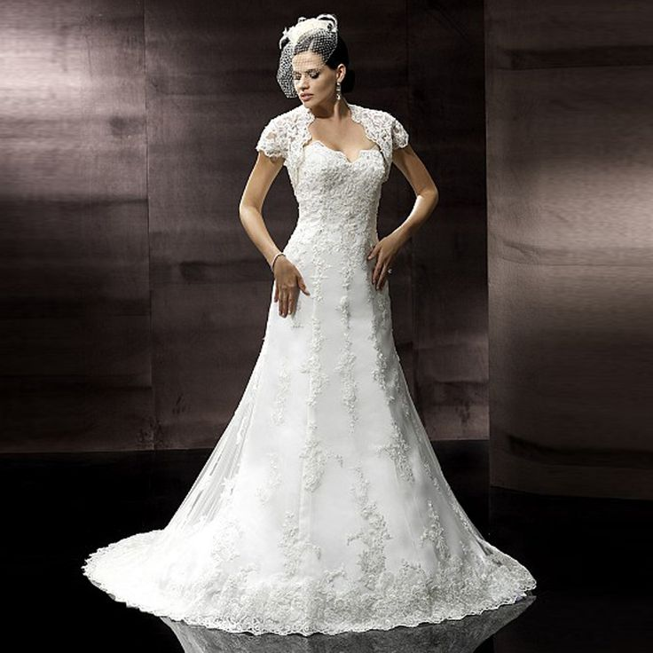 >> Click to Buy << 2016 White Mermaid Wedding Dresses with Lace Jacket Chapel Train Vestido De Noiva 2016 Sexy Organza Applique Bridal Gown #Affiliate