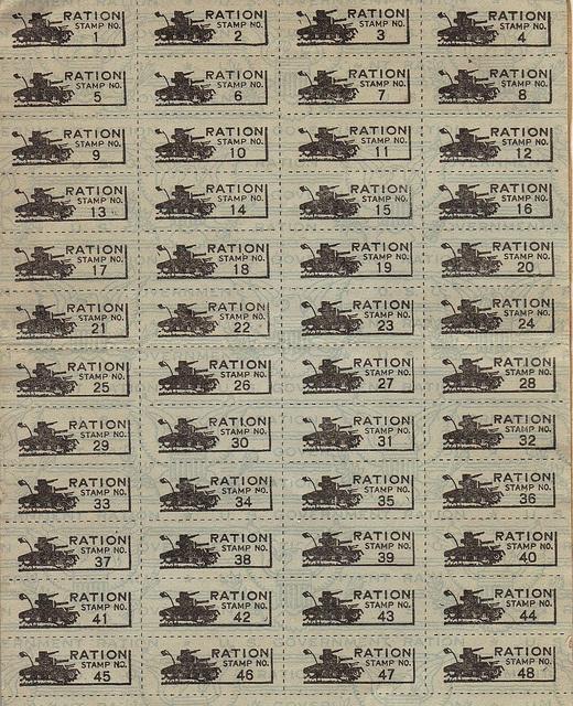 World War II Ration Book Three (Stamps)