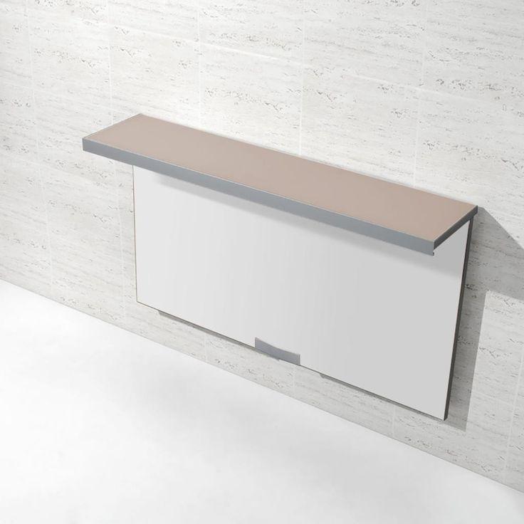 Mesa plegable para cocina con repisa en color t rtola - Mesa plegable de cocina ...