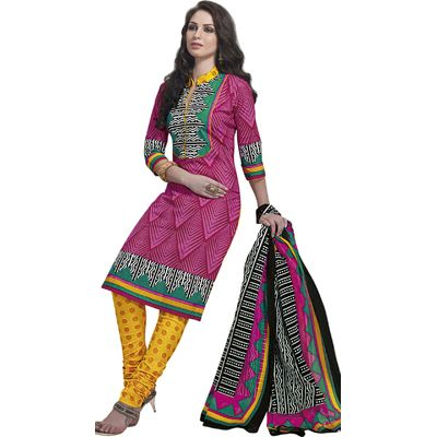 Buy Pari Pink Cotton Dress Material by Agate Business Services Private Limited, on Paytm, Price: Rs.699?utm_medium=pintrest