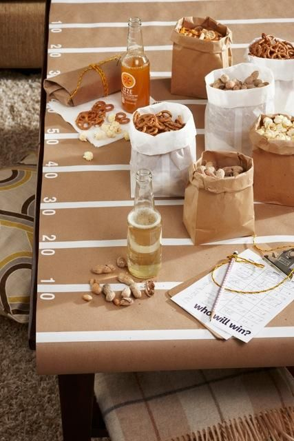 super bowl party easy table decoration idea