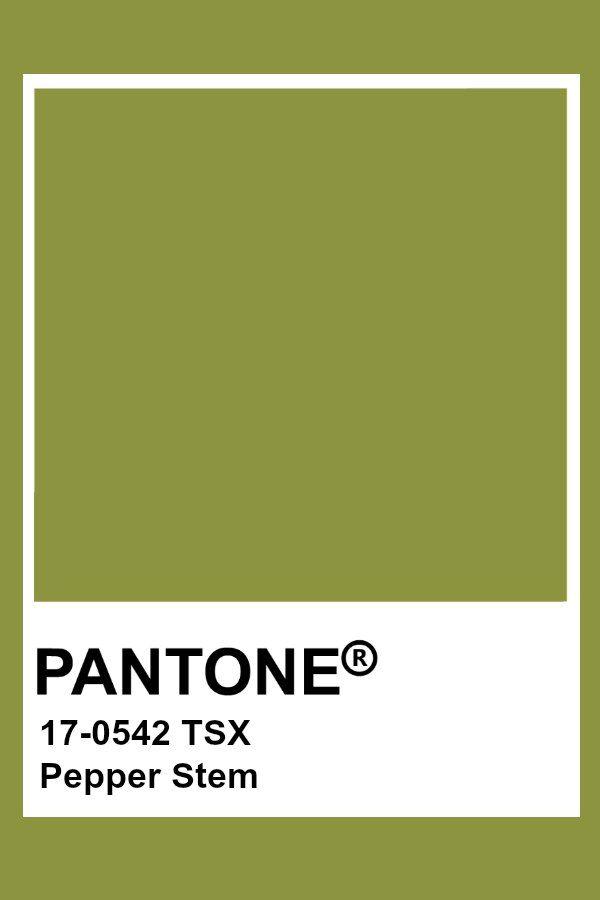 Pantone Pepper Stem | Pantone Polyester TSX Colors in 2019 ...