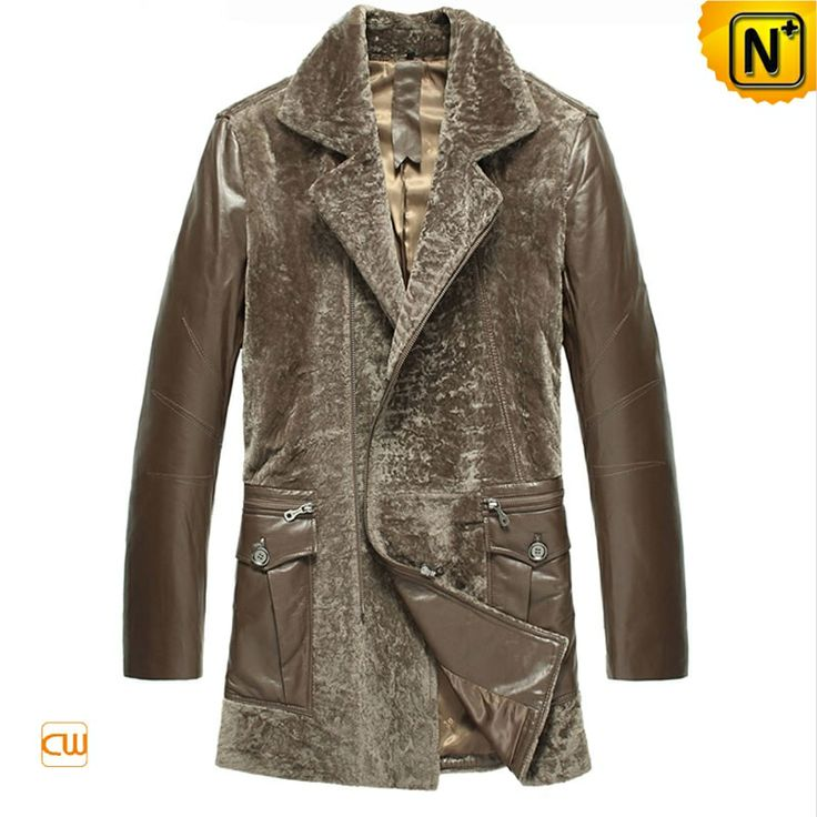 Leather Shearling Coats for Men CW877024 $1985.89 - www.cwmalls.com