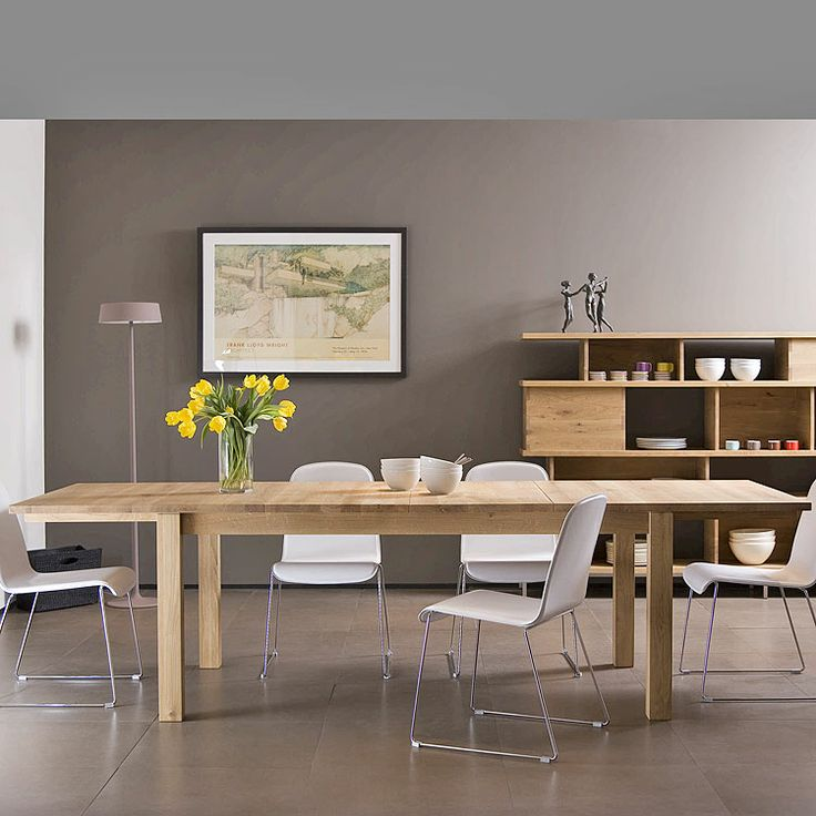 dining roomDining Rooms, Stretch Expanded, Oak Stretch, Contemporary Dining Room, Dining Room Tables, Room Room, Dining Room Oak, Dining Room Wall, Expanded Tables