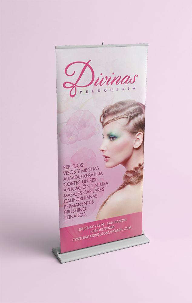 Banner roll hairsalon
