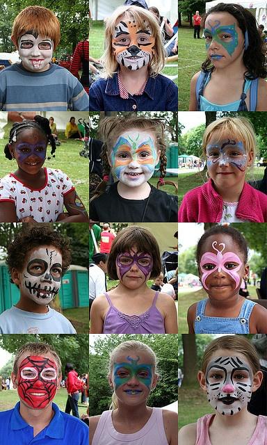 Cute facepainting ideas for the church picnic