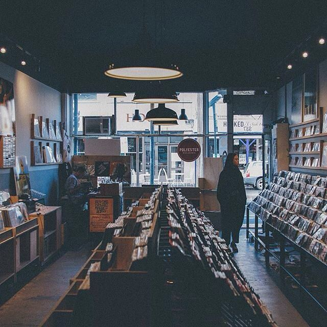 Polyester Records in Melbourne.