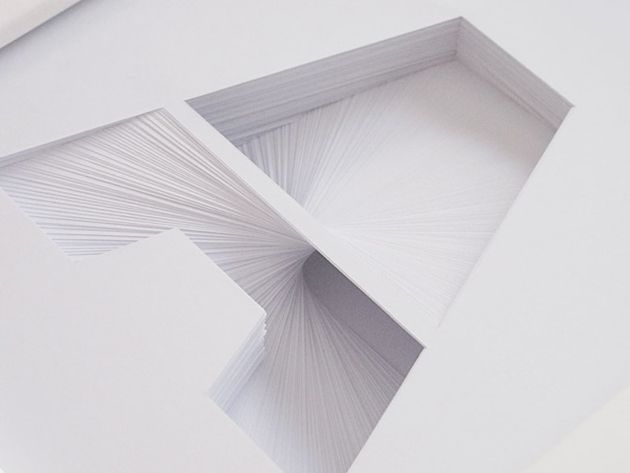 hand cut layered paper typography