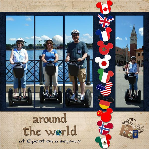 #papercraft #scrapbook #layout.   Around the World Tour - MouseScrappers - Disney Scrapbooking Gallery