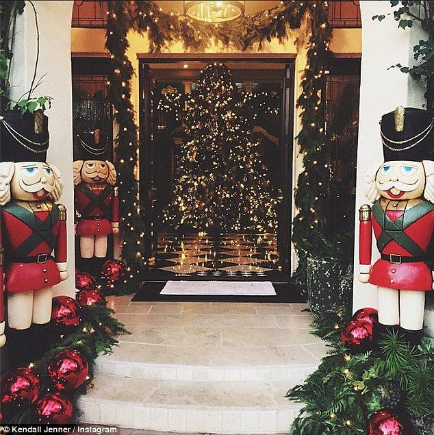 Kristmas at Kris': Kendall Jenner shared a photo of her mom Kris Jenner's decked out mansion, writing, 'can not wait to go home to this'