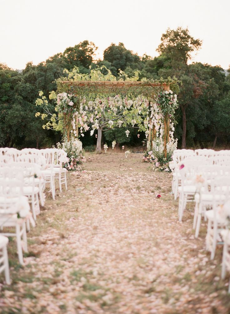 View entire slideshow: The Prettiest Petal Aisles for A Fairytale Wedding Ceremony on http://www.stylemepretty.com/collection/3879/