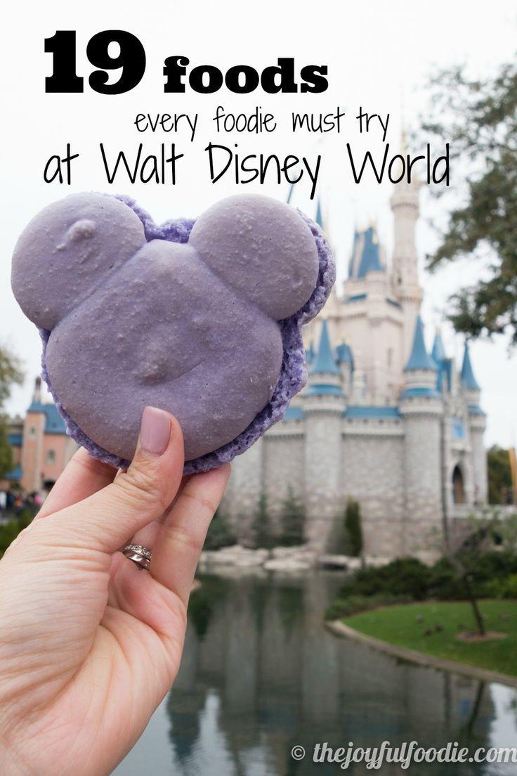 19 foods you must try at Walt Disney World. #disneyworld #wdw