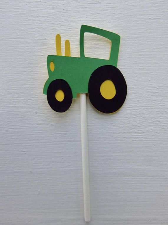 Tractor Cupcake Toppers John Deere Cupcake Toppers Green