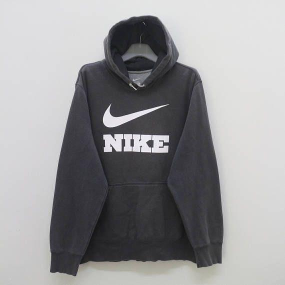 Vintage Nike Big Logo Sportswear Gray Pullover Hoodies Sweater