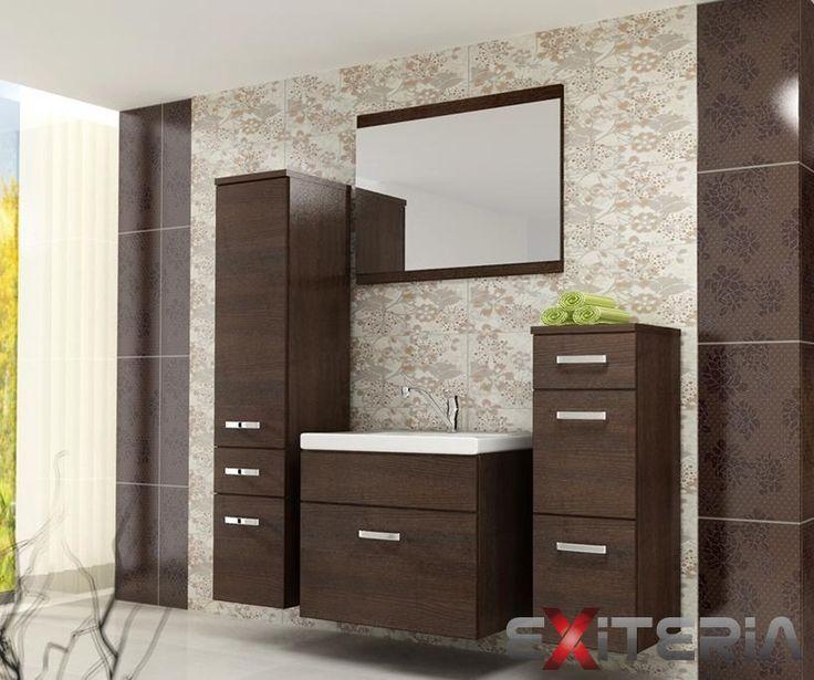 Závesný kúpeľňový set Alice v hnedom prevedení. http://www.mt-nabytok.sk/kupelnovy-nabytok-alice/