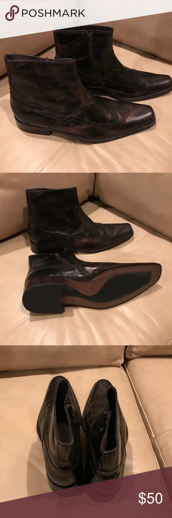 Men's Aldo Boots NWT Very nice boots from Aldo. Size 9 (42). Color is blend of black and brown. New, never worn. Aldo Shoes Boots