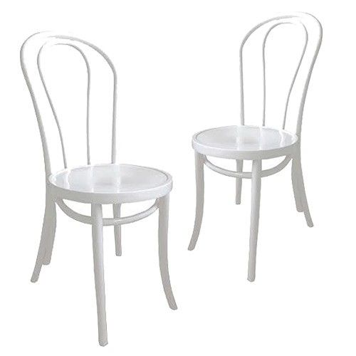 Set of 2 - Bentwood Dining Chair 214 - Thonet Reproduction - White 8% OFF | $229.00 - Milan Direct